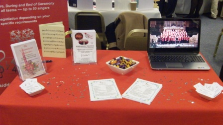 Wedding Fayre table